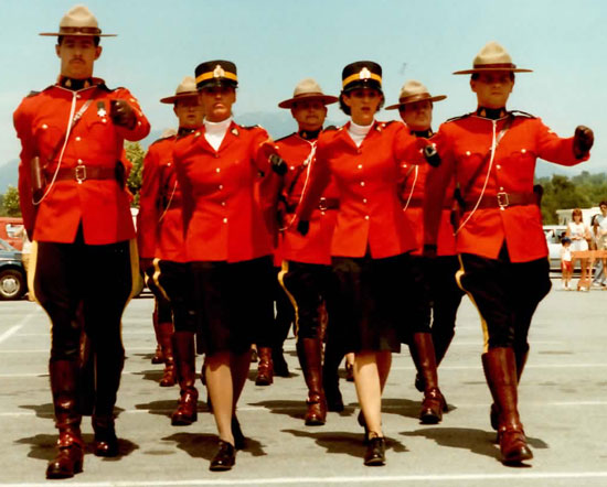 "1980s - RCMP ""E"" Division Drill Team (Source of photo - Sheldon Boles)."