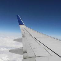 travel aircraft wing up