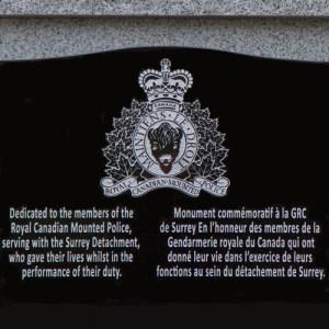 Photograph of Fallen Member Memorial at Surrey Detachment