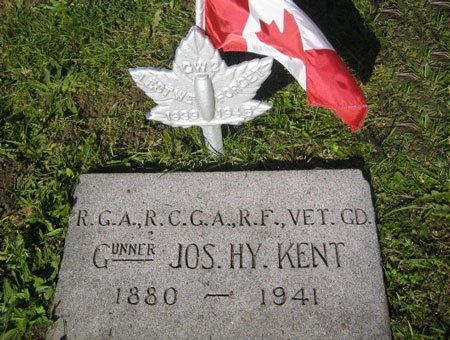 Photograph of the gravemarker for