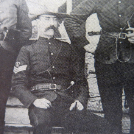 "Photograph of NWMP Sergeant William Brook Wilde (Reg. #857) (Source of photo - Page 68 of ""In The Line Of Duty"" by Robert Knuckle)."