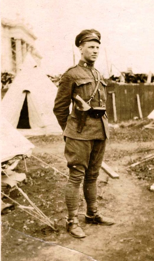 May 1919 - Photograph of RNWMP Trooper Edgar Murray Moore - member of  the RNWMP Cavalry Draft.  (Source of photo - RCMP Heritage Centre in Regina, Saskatchewan).