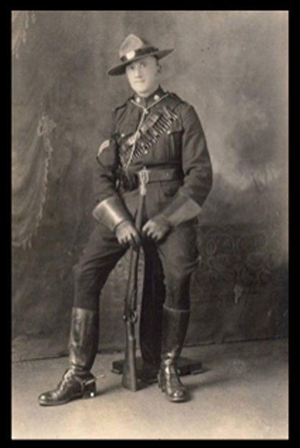 Photograph of Corporal Frank Barker (Source of photo - Ric Hall's Photo Collection).