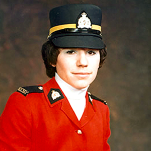 Photograph of Constable Donna Burns - member of the first troop of female members in the RCMP (Source of photo - RCMP).