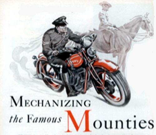 Harley Davidson motorcycle RNMWP, RCMP