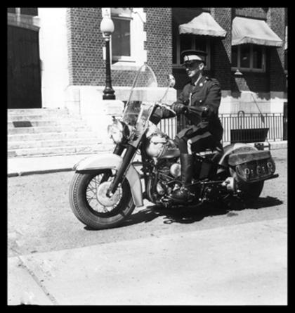 1950s Edmonton - Photograph of Constable Ronald Julius Friesen (Reg#18269) (Source of photo - Ric Hall's Photo Collection).