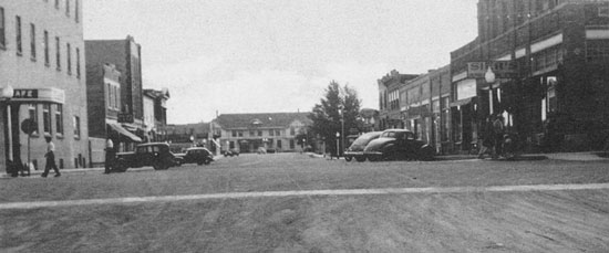 Photograph of Main Street in Melville Saskatchewan.