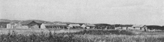 Photograph of the old NWMP Barracks at Wood Mountain.