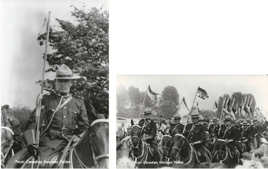 "Photograph of Corporal John Hosssfeld IReg.#21602) on ""Burmese"" carrying the Queen's pennon. (Source of photo - Ric Hall's Photo Collection)."