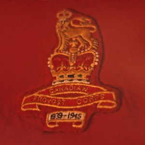 Photograph of the Provost attachment on the original RCMP Guidon (Source of photo - Sheldon Boles).