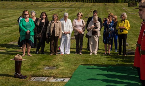 Photoograph of family and friends attending the memorial service (Source of photo - Sheldon Boles).