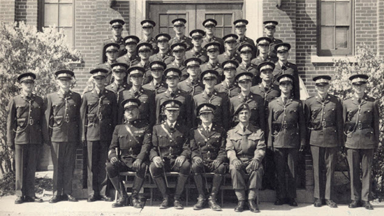 "1949 - Photograph of ""B"" Squad RCMP Recruits graduating photograph at ""Depot"" Division (Source of photo - Pattie King)"