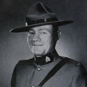 Photograph of RCMP Corporal George Hawkins (Source of photo - RCMP Quarterly).