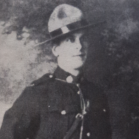 "Photograph of RCMP Constable Leonard Ralls (Reg.#6177) (Source of photo - ""In The Line Of Duty"" by Robert Knuckle)"