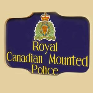 photo of old RCMP detachment sign