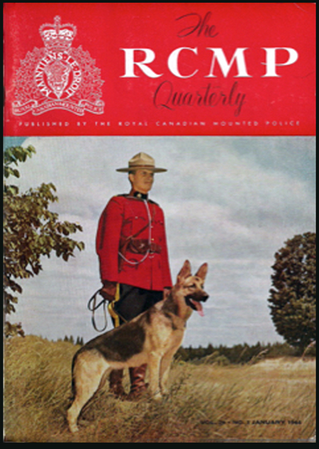 Photograph of a RCMP Quarterly magazine cover.