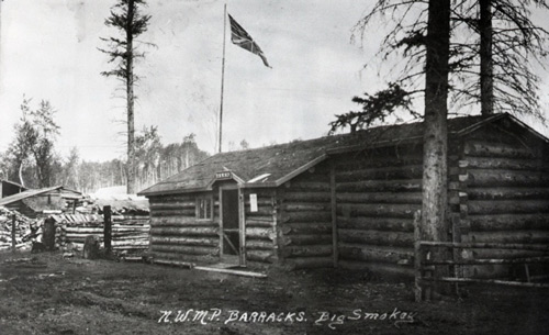Photograph of RNWMP Big Smokey Detachment (Source of photo - Ric Hall's Photo Collection).