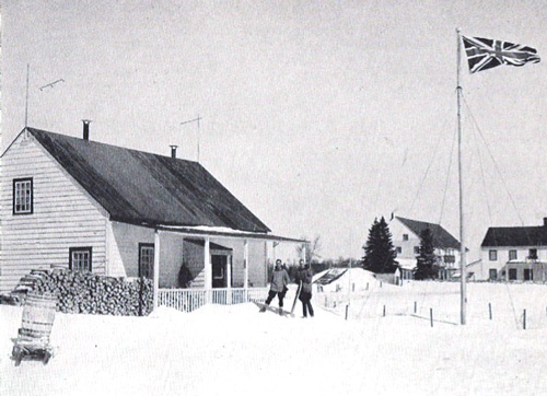 Photograph of RCMP members stationed at Moose Factory (James Bay) (Source of photo - Ric Hall's Photo Collection).
