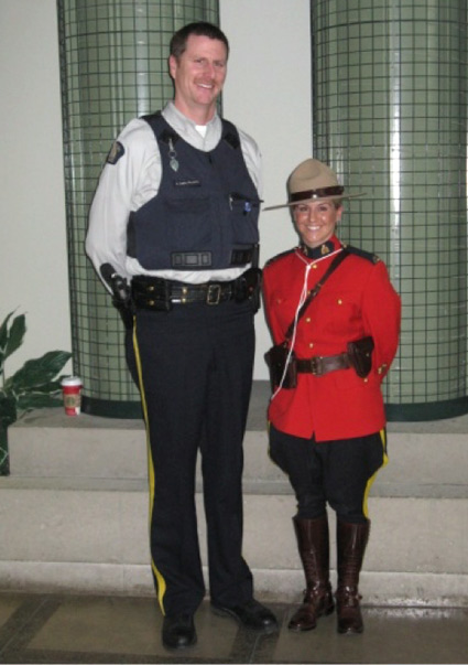 Photograph of two members of Surrey Detachment.