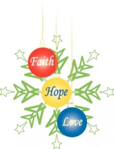 Faith Hope Love Christmas Ornaments2