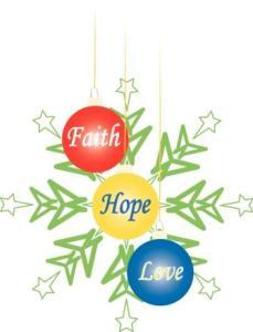 Faith Hope Love Christmas Ornaments2