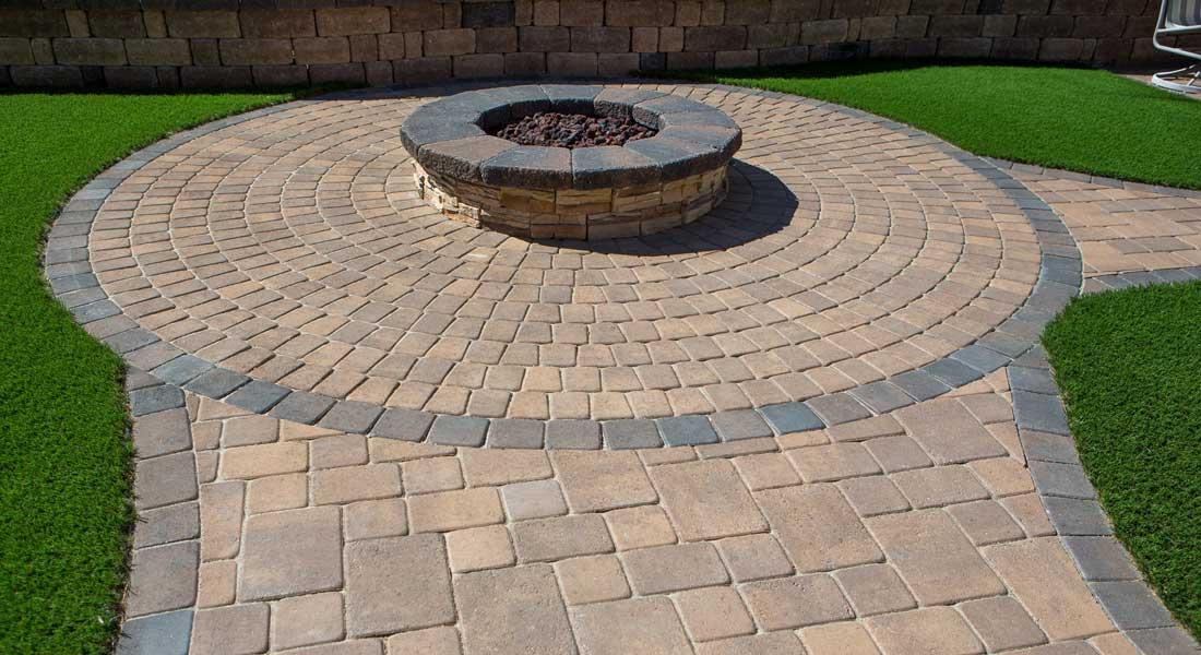 bella vista circle pattern concrete
