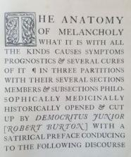 Image result for robert burton anatomy of melancholy