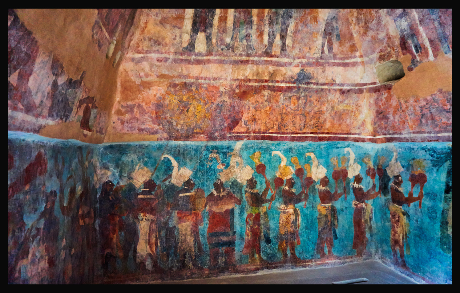 The amazing mayan murals of bonampak for Bonampak mural painting