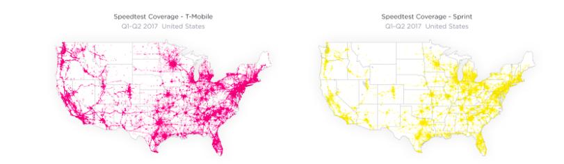 Sprint TMobile Merger Would Combine Similar Footprints RCR - Tmobile coverage map us 2017