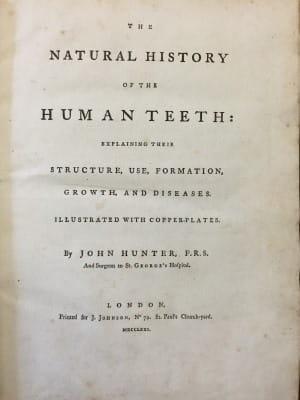 John Hunter The Natural History Of The Human Teeth 1771