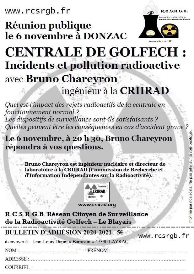 CRIIRAD Donzac 6 Nov. 2020
