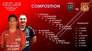Composition équipe Espoirs contre Narbonne