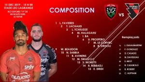 Composition Equipe Espoirs contre Oyonnax