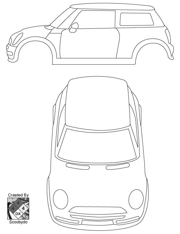 3d paper car template lamborghini