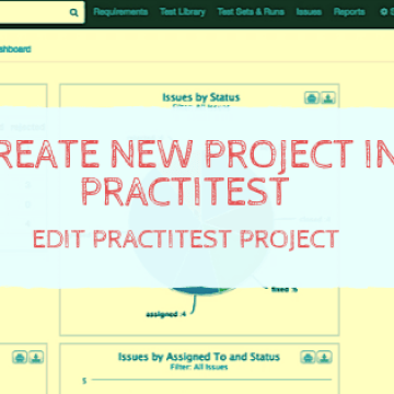 Create New Project in PractiTest – Edit PractiTest Project