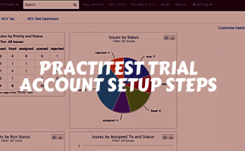 PractiTest Trial Account setup Steps