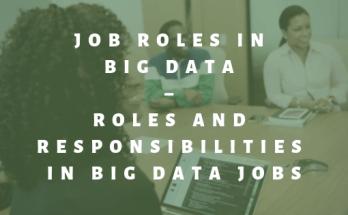 Job Roles Big Data – Roles and Responsibilities in Big data jobs