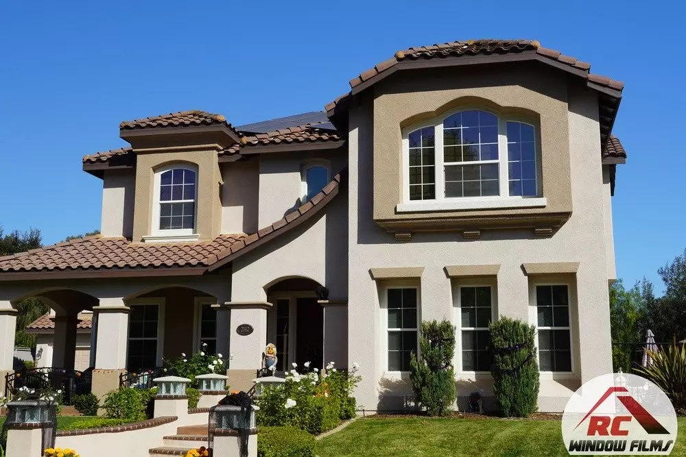 Veloce window film installation on a home in carlsbad ca.