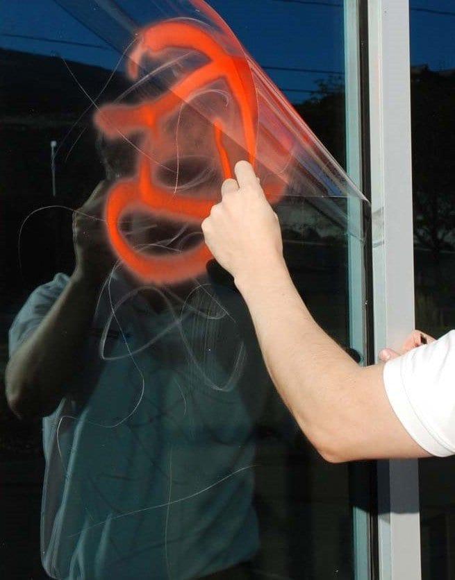 Anti Graffiti Commercial Window Film