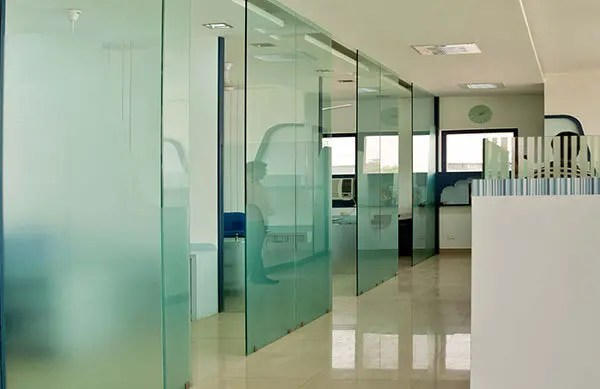 Commercial Frosted Window Film on Office Windows