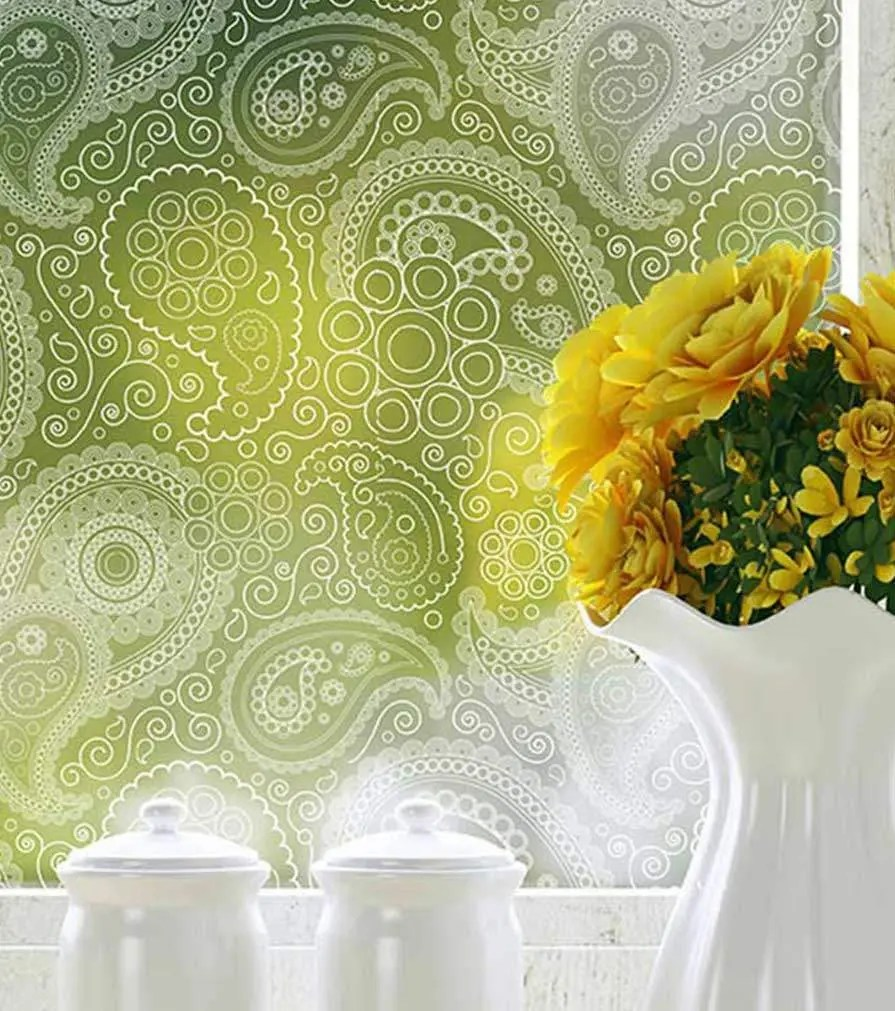 Home decorative window film and frosted window film with patterns