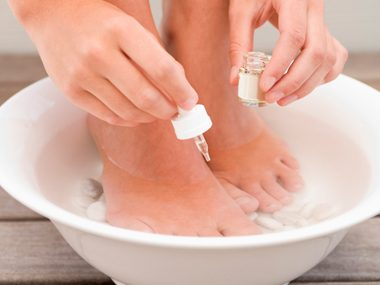Use tea tree oil to fight foot odor