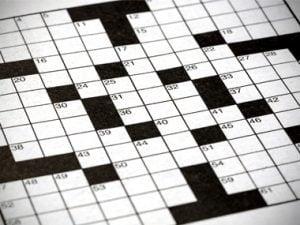 crossword puzzle