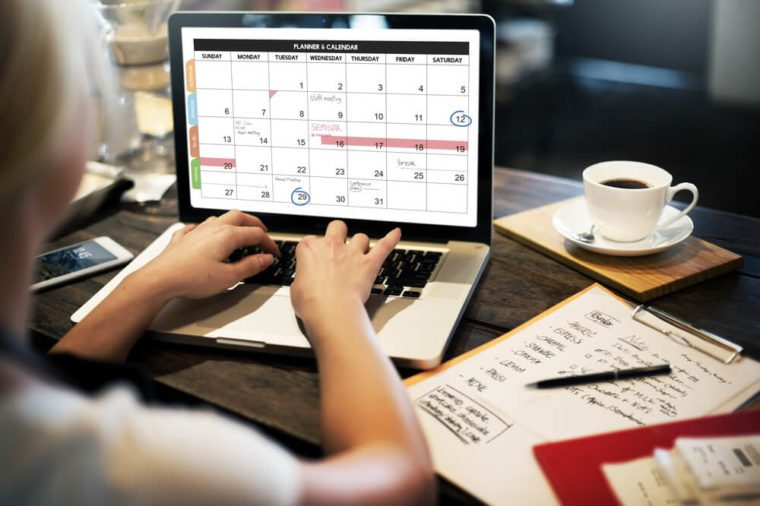 Calender Planner Organization Management Remind Concept