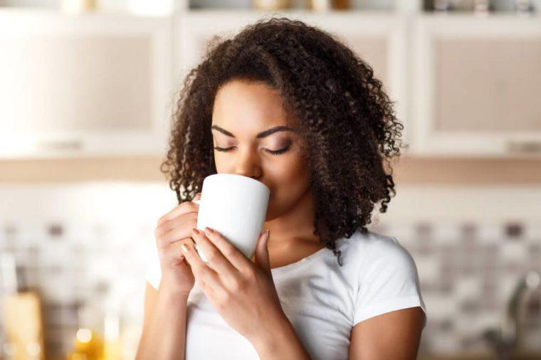 Nice girl drinking tea