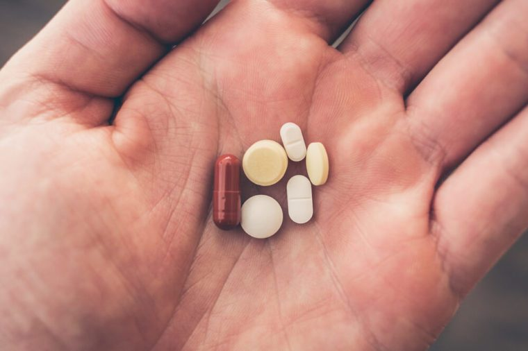 intake of tablets.