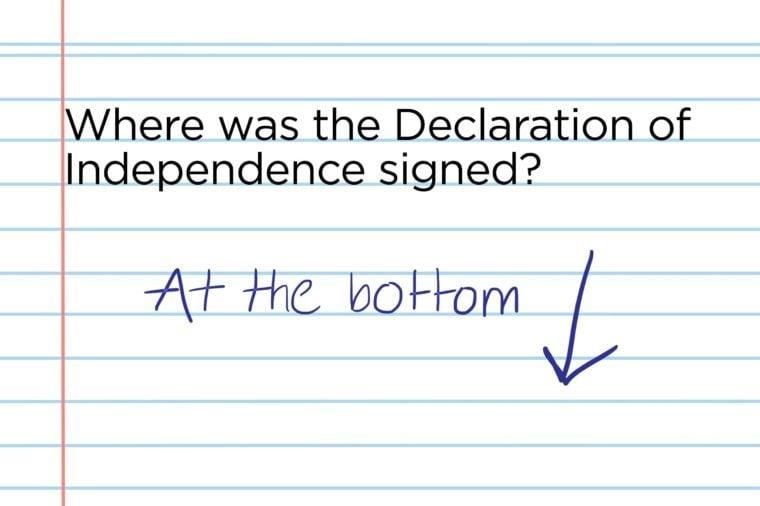 Signature placement