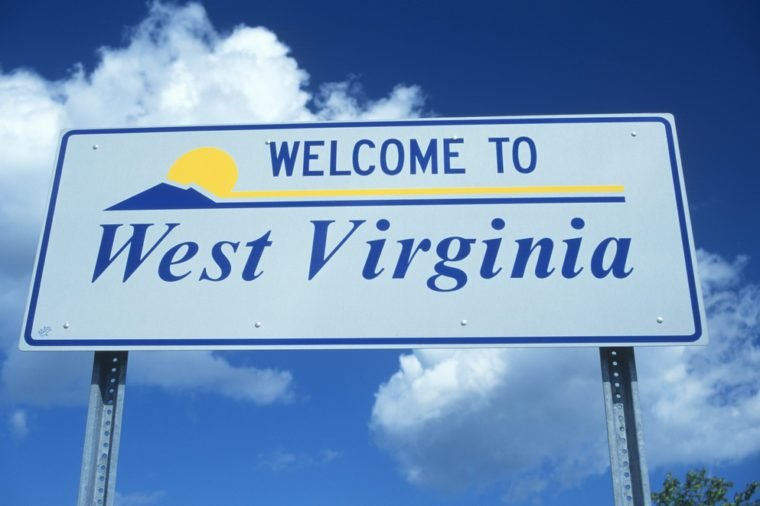 Welcome to West Virginia Sign