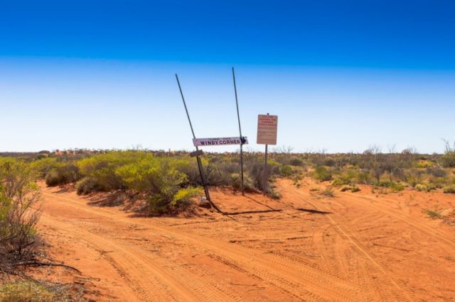 Windy Corner on the Canning Stock Route in outback Western Australia.