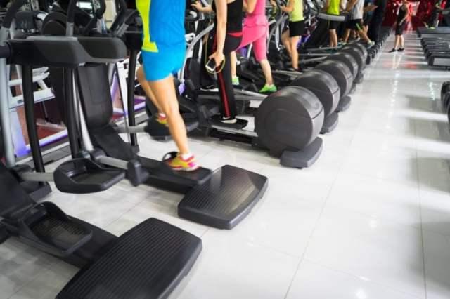Stepper closeup in gym